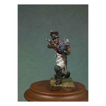 Figurine - Kit à peindre Soldat d'infanterie de ligne en 1810 à genoux en train de tirer - NA-009