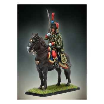 Figurine - Kit à peindre Officier de Hussards à Cheval - NA-014