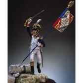 figurine kit a peindre major 2e de ligne en 1809 s7 f3