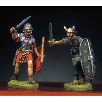 Figurine - Kit à peindre Soldat romain et barbare en train de lutter  I - RA-013