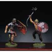 figurine kit a peindre soldat romain et barbare en train de lutter ii ra 014
