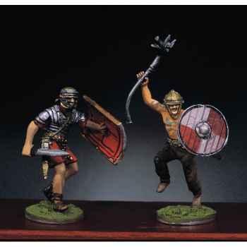 Figurine - Kit à peindre Soldat romain et barbare en train de lutter  II - RA-014