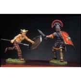 figurine kit a peindre soldat romain et barbare en train de lutter iii ra 016