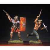 figurine kit a peindre soldat romain et barbare en train de lutter iv ra 017