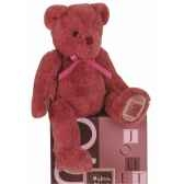 ours noeud 28 cm vieux rose histoire d ours 2172