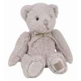 ours noeud 28 cm gris perle histoire d ours 2173