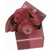 lapin noeud 28 cm vieux rose histoire d ours 2180