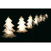 sapin lumineux mini blanc chaleureux lumenio 16843