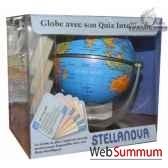 globe iq 10 cm politique bleu avec quiz cartotheque egg sliq10bleu
