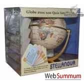 globe iq 10 cm antique avec quiz cartotheque egg sliq10anti