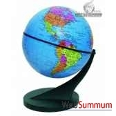 mini globe 11 cm bleu axe incline cartotheque egg slcl11bleu