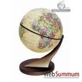 mini globe 15 cm antique axe incline cartotheque egg slcl15anti