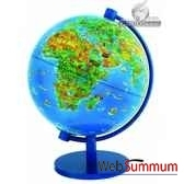 globe dinoz 28 cm monde enfant livret cartotheque egg slje28chil