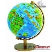 globe dinoz 28 cm monde prehistoire livret cartotheque egg slje28prhi