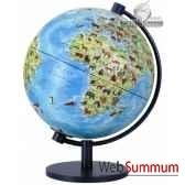 globe lumineux 28 cm monde enfant illustre livret cartotheque egg sl28enfant