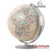 mini globe colombus classic 12 cm royapied et meridien en acier brosse cartotheque egg co221281