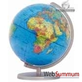 globe colombus lumineux 30 cm boule politique pied metacartotheque egg co403011