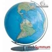 globe colombus lumineux 40 cm duo acier cartotheque egg co204081f