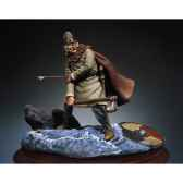 figurine kit a peindre guerrier viking blesse sm f26