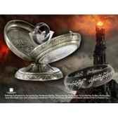 anneau unique acier noir noble collection nn1319