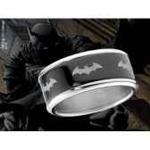 batman anneau coulissant noir noble collection nnxt8302