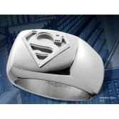 chevaliere superman en acier noble collection nnxt8314