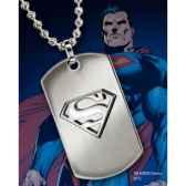 dog tag embleme superman acier noble collection nnxt8378