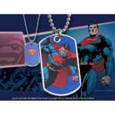 dog tag superman en action noble collection nnxt8342