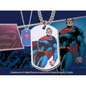 dog tag superman debout noble collection nnxt8367