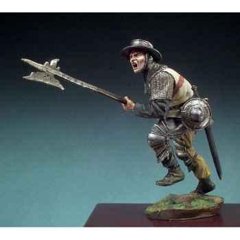 Figurine - Kit à peindre Hallebardier  bataille d'Azincourt en 1415 - SM-F45