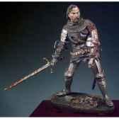figurine kit a peindre cavalier blesse sur le champ de bataille azincourt en 1415 sm f46