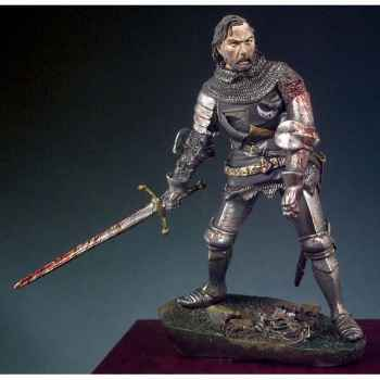Figurine - Kit à peindre Cavalier blessé sur le champ de bataille, Azincourt en 1415 - SM-F46