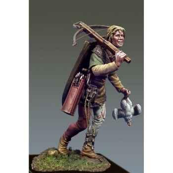 Figurine - Kit à peindre Arbalétrier en marche en 1415 - SM-F47