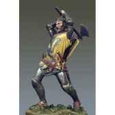figurine kit a peindre chevalier au combat i crecy en 1346 sm f48