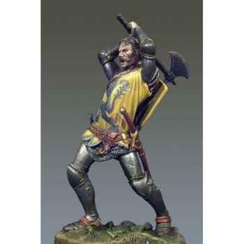 Figurine - Kit à peindre Chevalier au combat I  Crécy en 1346 - SM-F48