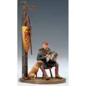 figurine kit a peindre ecuyer avec chien au xiii siecle sm f51