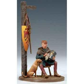 Figurine - Kit à peindre Écuyer avec Chien au XIII siècle - SM-F51