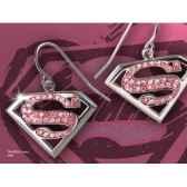 supergirboucles d oreilles cristarose noble collection nn4024