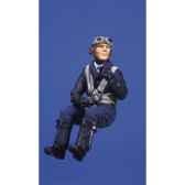 figurine kit a peindre pilote allemand dans la cabine de pilotage sw 04