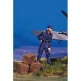 figurine kit a peindre pilote allemand au repos ii sw 06