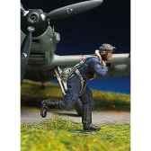 figurine kit a peindre pilote allemand en train de courir i sw 07