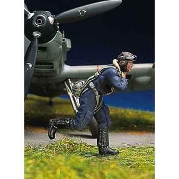 Figurine - Kit à peindre Pilote allemand en train de courir I - SW-07