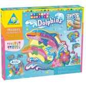 mosaiques autocollantes dauphins sticky mosaics the orb factory orb64327