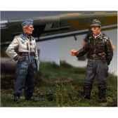 figurine kit a peindre piloto stuka y artillero sw 12