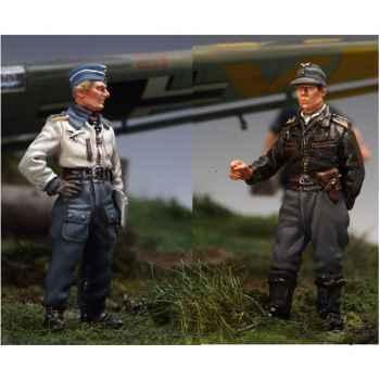 Figurine - Kit à peindre Piloto Stuka y Artillero - SW-12