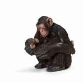 chimpanze femelle avec bebe chimpanze schleich 14679