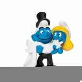 couple schtroumpf se mariant schleich 20746