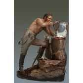 figurine kit a peindre cuirassier en train de se raser en 1806 s7 f32