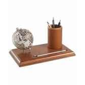 mappemonde de bureau avec compartiment pour stylos zoffoli art220