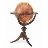 mappemonde classique avec base en bois zoffoli art47